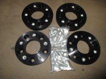 Spurverbreiterungsatz 62 mm 460/461/463 von H&R  4x Platten  aus ALU
